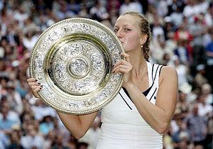 2011 Petra Kvitová tennis season - Kvitová holds the Venus Rosewater Dish