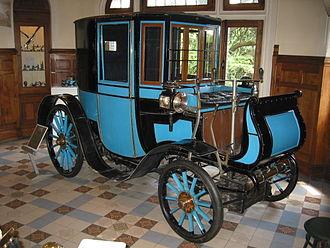 Brougham (car body) - 1899 Peugeot Type 27 brougham