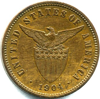 Coins of the Philippine peso - Image: Phil 1904halfcentrev