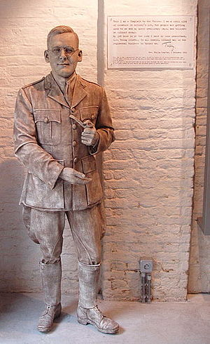 "Tubby Clayton - Philip 'Tubby' Clayton in the ""Talbout House"", Poperinge, Belgium"