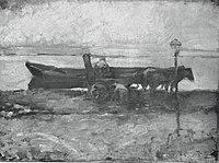 Piet Mondriaan - Moored barge with horses - A201 - Piet Mondrian, catalogue raisonné.jpg