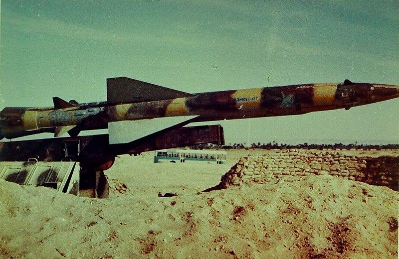 טיל מצרי מוצב בעמדה בג'בל ג'ניפה