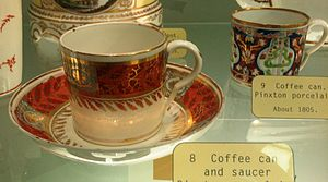 Pinxton Porcelain - Coffee cups (cans) made from Pinxton porcelain
