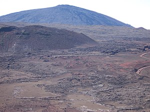 Réunion hotspot - Piton de la Fournaise, an active shield volcano formed by the Réunion hotspot