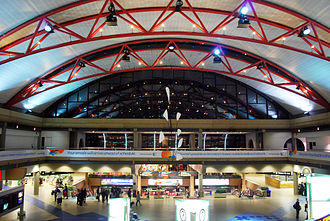 Pittsburgh International Airport - Airside Terminal, with the Alexander Calder mobile Pittsburgh on display in center