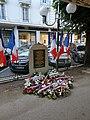 Plaque mémorielle de la rafle du 28 août 1942, rue du Parc, Vichy.jpg