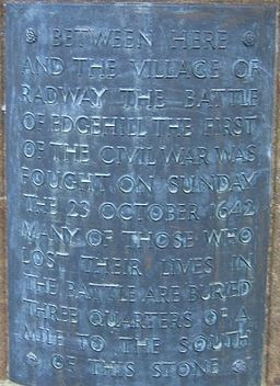 Plaque on the Monument to the Battle of Edgehill - geograph.org.uk - 37622