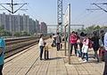 Platform 3 of Gaobeidian Railway Station (20160428092611).jpg