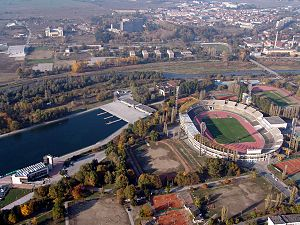 1990 World Junior Championships in Athletics - Image: Plovdiv Stadium