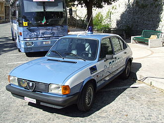 Alfa Romeo Alfasud - Second series Alfasud for Polizia di Stato.