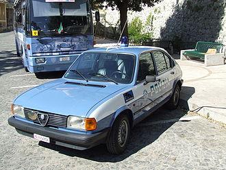 Alfa Romeo Alfasud - Second series Alfasud for Polizia di Stato.