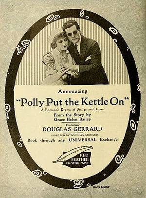 Polly Put the Kettle On - Advertisement for the 1916 film, based on a screen story by Grace Helen Bailey inspired by the song.