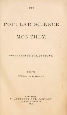 Popular Science Monthly Volume 6.djvu