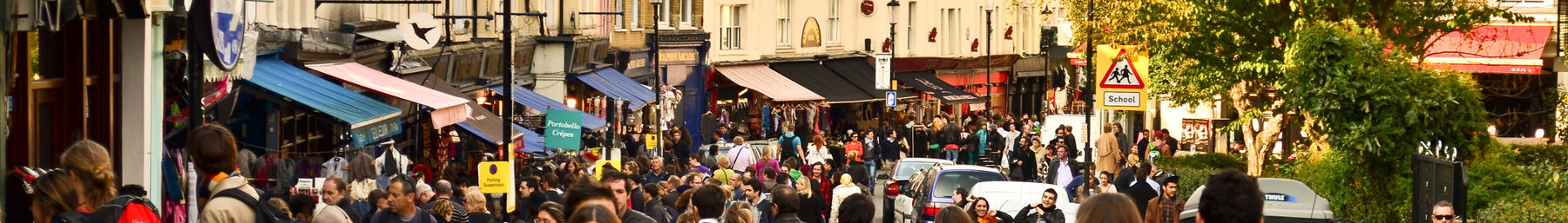 Portobello Road market banner (October 2011).jpg