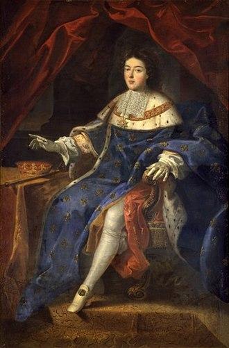 Louis Auguste, Duke of Maine - Portrait by Jacques Antoine Friquet de Vauroze