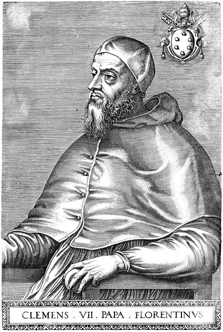 Portrait of Pope Clement VII (1568) Portrait of Pope Clement VII.jpg
