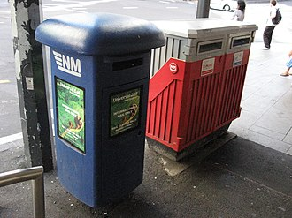 Deregulation - Since the deregulation of the postal sector, different postal operators can install mail collection boxes in New Zealand's streets.