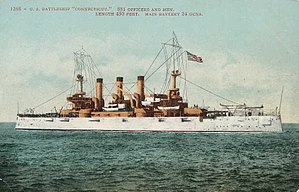 Ship camouflage - Great White Fleet: USS ''Connecticut'', c. 1906