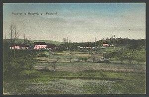Hruševje - 1920 postcard of Hruševje