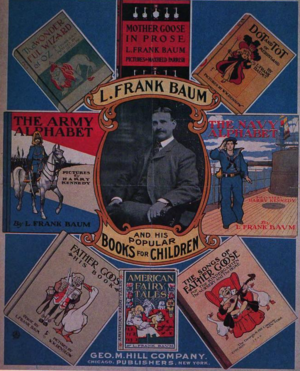 George M. Hill Company - 1901 poster from Hill advertising books by L. Frank Baum