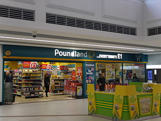 Poundland - Poundland, Kings Mall, Hammersmith, London