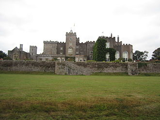 Powderham Castle - Powderham Castle, east front, viewed from the deer park