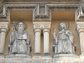 Prague-Smichov-St Gabriel Church-Saint Benedict and Saint Scholastica 2.jpg