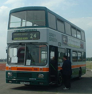 London Buses route 24 - Preserved Grey-Green Alexander bodied Volvo Citybus as used on route 24 from 1988
