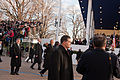 President Obama waves to the crowd in 57th Presidential Inaugural Parade 130121-Z-QU230-195.jpg