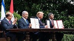 President Trump and The First Lady Participate in an Abraham Accords Signing Ceremony (50345630003).jpg