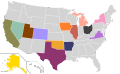 Presidential Candidate Home State Locator Map, 1992 (United States of America) (Expanded).png