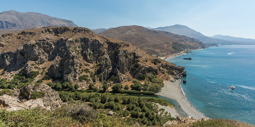 Preveli Palm Beach Panorama 02