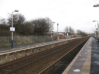 Priesthill & Darnley railway station - Image: Priesthill and Darnley March 2013