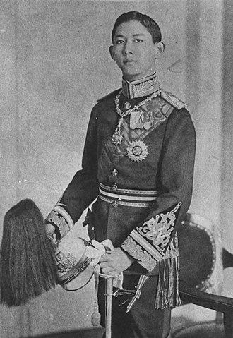 Mahidol Adulyadej - Prince of Songkhla in Royal Guards uniform
