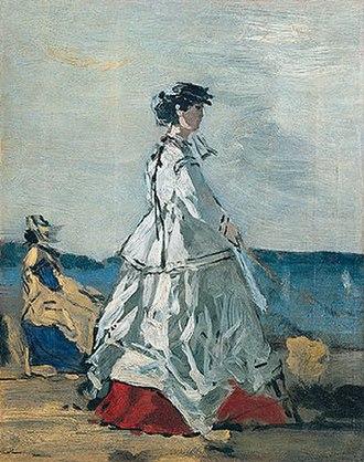 Pauline von Metternich - Princess Pauline Metternich on the Beach, painting by Eugène Boudin