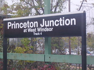 Princeton Junction station - Station signs include the name of the township, West Windsor