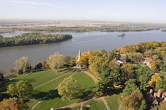 Principia College - Principia's campus sits on the bluffs overlooking the Mississippi River