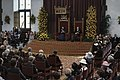 Prinsjesdag 1984 Koningin Beatrix en Prins Claus tijdens de Troonrede in de Rid, Bestanddeelnr 253-8882.jpg