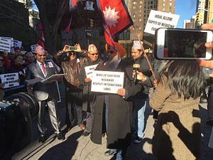 2015 Nepal blockade - Protest in USA against India Blockade to Nepal