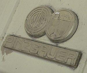 Steyr-Daimler-Puch - Logo of Steyr-Puch on the Pinzgauer