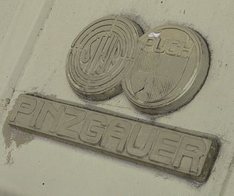 Steyr-Daimler-Puch - Logo of Steyr-Puch on the Pinzgauer