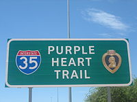 Purple Heart Trail on Interstate 35 IMG 1065 1