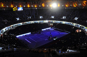 Qizhong Forest Sports City Arena - The Qi Zhong Stadium, playing host to a match at the 2008 Tennis Masters Cup
