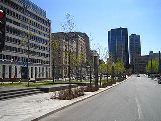 Neighbourhood in Montreal, Quebec, Canada
