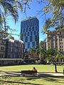 Queens Gardens and Ibis Styles Brisbane hotel in the middle August 2016.jpg