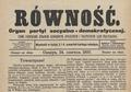 Równość czasopismo 1897.png