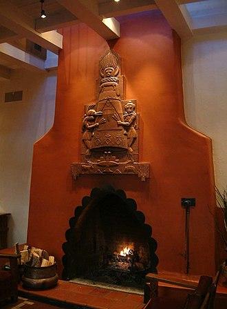 Arnold Rönnebeck - Fireplace in La Fonda Hotel, Santa Fe, New Mexico, 1927