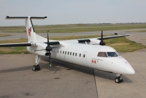 R1 Airlines - Newly branded R1 Airlines Bombardier Dash 8 used to transport clients and their workforces for business purposes to remote and densely populated regions in the world.