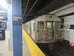 R32 C train going downtown at the 59th Street–Columbus Circle station.jpg