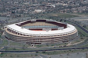 Football at the 1996 Summer Olympics – Men's tournament - Image: RFK Stadium aerial photo, 1988
